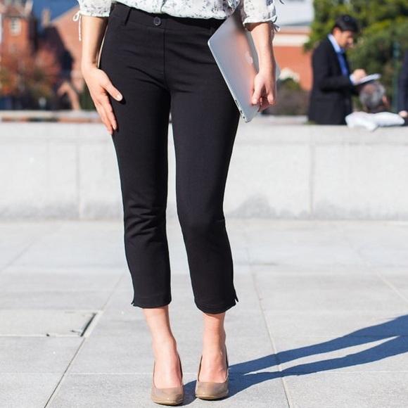 dc96c2cad20db Betabrand Pants | Cropped Leg Black Dress Pant Yoga | Poshmark